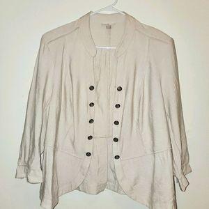 Roz & Ali Lightweight Buttoned Jacket